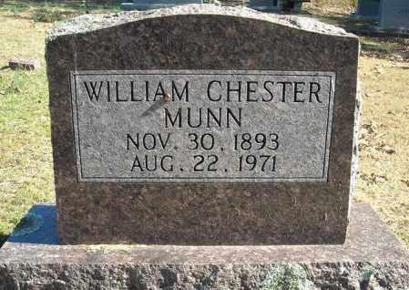 MUNN, WILLIAM CHESTER - Faulkner County, Arkansas | WILLIAM CHESTER MUNN - Arkansas Gravestone Photos