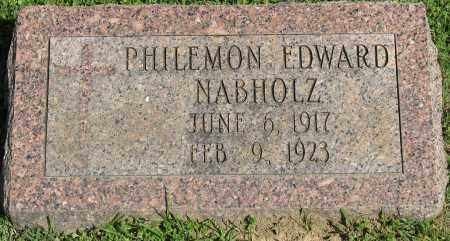 NABHOLZ, PHILEMON EDWARD - Faulkner County, Arkansas | PHILEMON EDWARD NABHOLZ - Arkansas Gravestone Photos