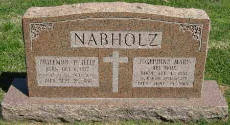 NABHOLZ, PHILEMON PHILLIP - Faulkner County, Arkansas | PHILEMON PHILLIP NABHOLZ - Arkansas Gravestone Photos
