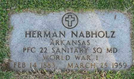 NABHOLZ (VETERAN WWI), HERMAN - Faulkner County, Arkansas | HERMAN NABHOLZ (VETERAN WWI) - Arkansas Gravestone Photos