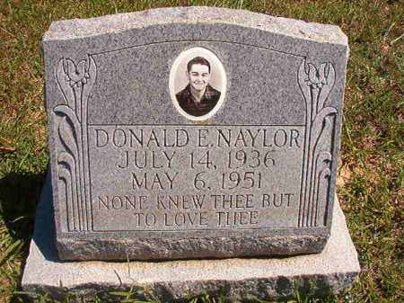 NAYLOR, DONALD E - Faulkner County, Arkansas | DONALD E NAYLOR - Arkansas Gravestone Photos