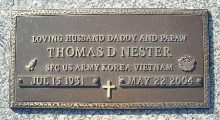 NESTER (VETERAN 2 WARS), THOMAS D - Faulkner County, Arkansas | THOMAS D NESTER (VETERAN 2 WARS) - Arkansas Gravestone Photos