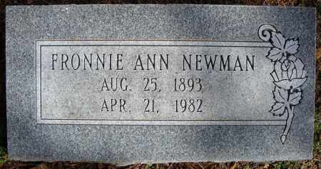 NEWMAN, FRONNIE ANN - Faulkner County, Arkansas | FRONNIE ANN NEWMAN - Arkansas Gravestone Photos