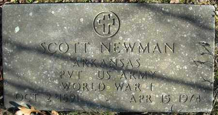 NEWMAN (VETERAN WWI), SCOTT - Faulkner County, Arkansas | SCOTT NEWMAN (VETERAN WWI) - Arkansas Gravestone Photos