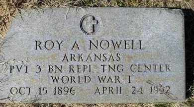 NOWELL (VETERAN WWI), ROY A - Faulkner County, Arkansas | ROY A NOWELL (VETERAN WWI) - Arkansas Gravestone Photos