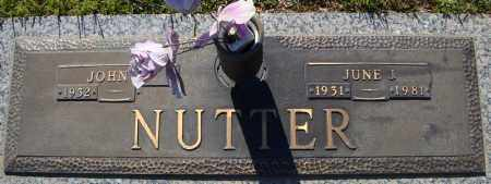 NUTTER, JUNE I. - Faulkner County, Arkansas | JUNE I. NUTTER - Arkansas Gravestone Photos
