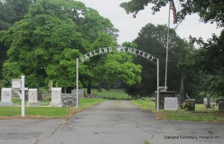*OAKLAND CEMETERY ENTRANCE,  - Faulkner County, Arkansas |  *OAKLAND CEMETERY ENTRANCE - Arkansas Gravestone Photos