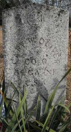 OLIVER (VETERAN CSA), CARY W - Faulkner County, Arkansas   CARY W OLIVER (VETERAN CSA) - Arkansas Gravestone Photos