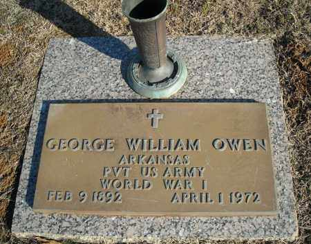 OWEN (VETERAN WWI), GEORGE WILLIAM - Faulkner County, Arkansas | GEORGE WILLIAM OWEN (VETERAN WWI) - Arkansas Gravestone Photos