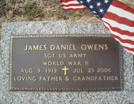 OWENS (VETERAN WWII), JAMES DANIEL - Faulkner County, Arkansas | JAMES DANIEL OWENS (VETERAN WWII) - Arkansas Gravestone Photos
