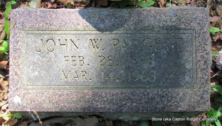 PADGETT, JOHN W. - Faulkner County, Arkansas | JOHN W. PADGETT - Arkansas Gravestone Photos