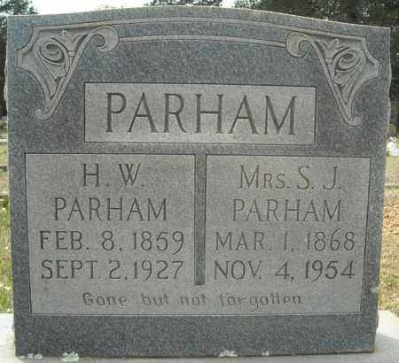 PARHAM, H.W. - Faulkner County, Arkansas | H.W. PARHAM - Arkansas Gravestone Photos