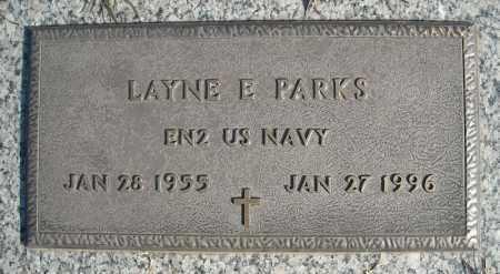 PARKS (VETERAN), LAYNE E - Faulkner County, Arkansas | LAYNE E PARKS (VETERAN) - Arkansas Gravestone Photos