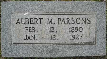 PARSONS, ALBERT M. - Faulkner County, Arkansas | ALBERT M. PARSONS - Arkansas Gravestone Photos