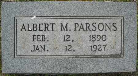 PARSONS, ALBERT MARION - Faulkner County, Arkansas | ALBERT MARION PARSONS - Arkansas Gravestone Photos