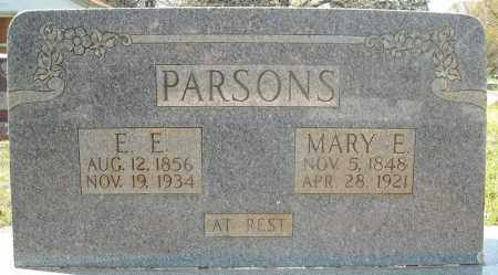 PARSONS, E.E. - Faulkner County, Arkansas | E.E. PARSONS - Arkansas Gravestone Photos