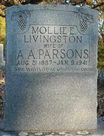 PARSONS, MOLLIE E. - Faulkner County, Arkansas | MOLLIE E. PARSONS - Arkansas Gravestone Photos