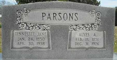 PARSONS, TENNESSEE JANE - Faulkner County, Arkansas | TENNESSEE JANE PARSONS - Arkansas Gravestone Photos