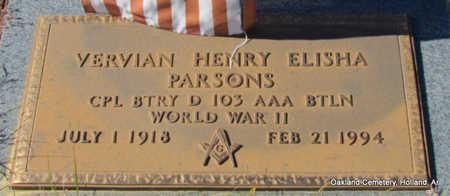 PARSONS (VETERAN WWII), VERVIAN HENRY ELISHA - Faulkner County, Arkansas | VERVIAN HENRY ELISHA PARSONS (VETERAN WWII) - Arkansas Gravestone Photos