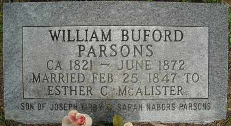 PARSONS, WILLIAM BUFORD - Faulkner County, Arkansas | WILLIAM BUFORD PARSONS - Arkansas Gravestone Photos