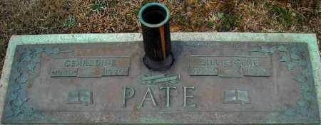 PATE, BILLIE GENE - Faulkner County, Arkansas | BILLIE GENE PATE - Arkansas Gravestone Photos