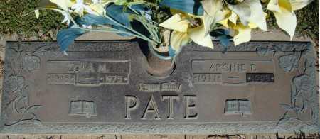 PATE, ZOLA M. - Faulkner County, Arkansas | ZOLA M. PATE - Arkansas Gravestone Photos