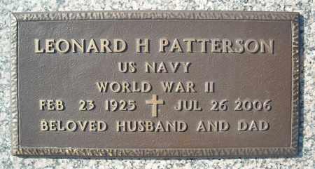 PATTERSON (VETERAN WWII), LEONARD H - Faulkner County, Arkansas | LEONARD H PATTERSON (VETERAN WWII) - Arkansas Gravestone Photos