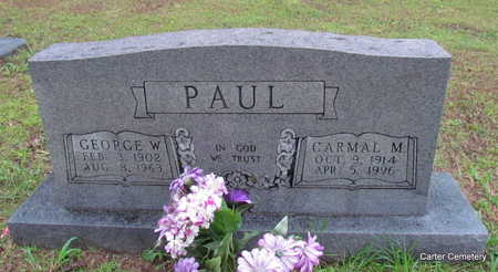 PAUL, GEORGE W. - Faulkner County, Arkansas | GEORGE W. PAUL - Arkansas Gravestone Photos