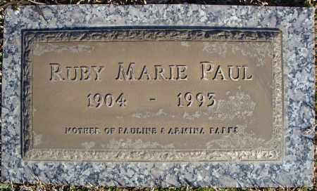 PAUL, RUBY MARIE - Faulkner County, Arkansas | RUBY MARIE PAUL - Arkansas Gravestone Photos