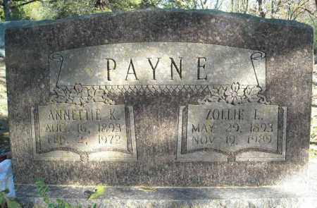 PAYNE, ZOLLIE L. - Faulkner County, Arkansas | ZOLLIE L. PAYNE - Arkansas Gravestone Photos