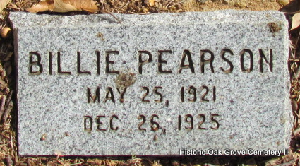 PEARSON, BILLIE - Faulkner County, Arkansas | BILLIE PEARSON - Arkansas Gravestone Photos