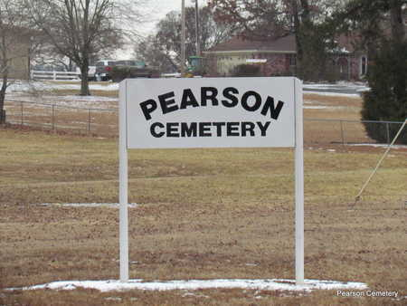 *PEARSON CEMETERY SIGN,  - Faulkner County, Arkansas |  *PEARSON CEMETERY SIGN - Arkansas Gravestone Photos