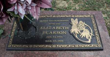 PEARSON, ELIZABETH - Faulkner County, Arkansas | ELIZABETH PEARSON - Arkansas Gravestone Photos