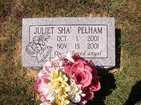 PELHAM, JULIET SHA' - Faulkner County, Arkansas   JULIET SHA' PELHAM - Arkansas Gravestone Photos