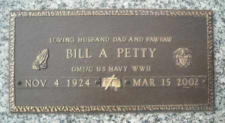 PETTY (VETERAN WWII), BILL A - Faulkner County, Arkansas | BILL A PETTY (VETERAN WWII) - Arkansas Gravestone Photos
