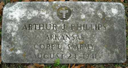 PHILLIPS (VETERAN), ARTHUR J - Faulkner County, Arkansas | ARTHUR J PHILLIPS (VETERAN) - Arkansas Gravestone Photos