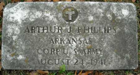 PHILLIPS (VETERAN), ARTHUR J - Faulkner County, Arkansas | ARTHUR J PHILLIPS (VETERAN) - Arkansas Gravestone Photos