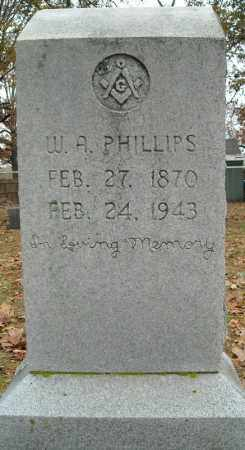 PHILLIPS, W.A. - Faulkner County, Arkansas | W.A. PHILLIPS - Arkansas Gravestone Photos