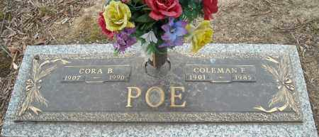POE, CORA B. - Faulkner County, Arkansas | CORA B. POE - Arkansas Gravestone Photos