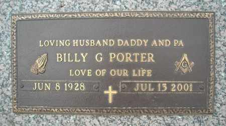 PORTER, BILLY G. - Faulkner County, Arkansas | BILLY G. PORTER - Arkansas Gravestone Photos