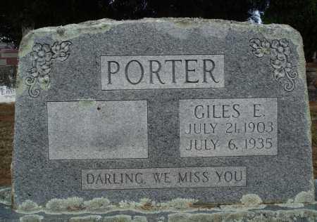 PORTER, GILES E. - Faulkner County, Arkansas | GILES E. PORTER - Arkansas Gravestone Photos