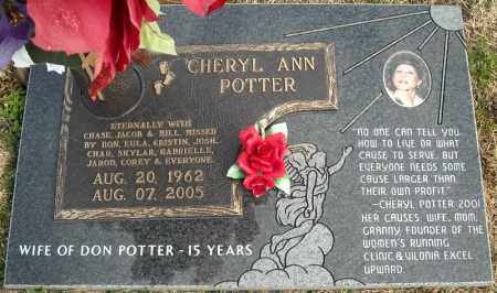 POTTER, CHERYL ANN - Faulkner County, Arkansas | CHERYL ANN POTTER - Arkansas Gravestone Photos
