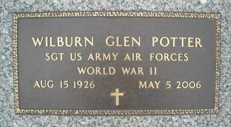 POTTER (VETERAN WWII), WILBURN GLEN - Faulkner County, Arkansas | WILBURN GLEN POTTER (VETERAN WWII) - Arkansas Gravestone Photos