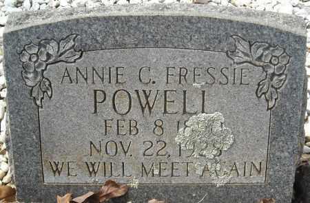 FRESSIE POWELL, ANNIE C. - Faulkner County, Arkansas   ANNIE C. FRESSIE POWELL - Arkansas Gravestone Photos