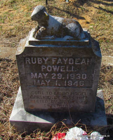 POWELL, RUBY FAYDEAN - Faulkner County, Arkansas | RUBY FAYDEAN POWELL - Arkansas Gravestone Photos