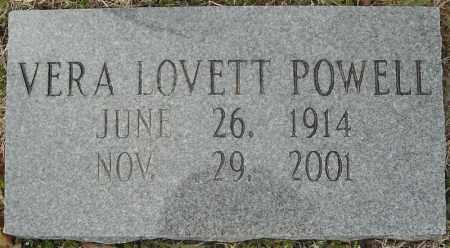 LOVETT POWELL, VERA - Faulkner County, Arkansas   VERA LOVETT POWELL - Arkansas Gravestone Photos