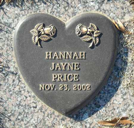 PRICE, HANNAH JAYNE - Faulkner County, Arkansas | HANNAH JAYNE PRICE - Arkansas Gravestone Photos