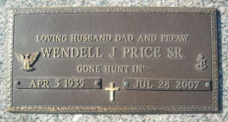 PRICE, SR (VETERAN), WENDELL J - Faulkner County, Arkansas | WENDELL J PRICE, SR (VETERAN) - Arkansas Gravestone Photos