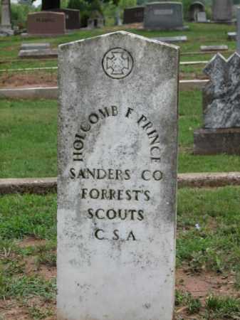 PRINCE  (VETERAN CSA), HOLCOMB F. - Faulkner County, Arkansas | HOLCOMB F. PRINCE  (VETERAN CSA) - Arkansas Gravestone Photos