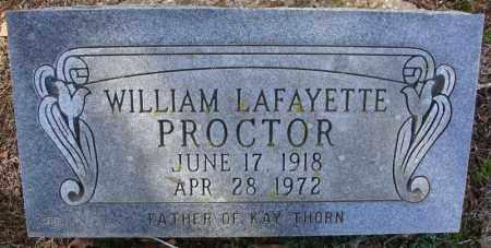 PROCTOR, WILLIAM LAFAYETTE - Faulkner County, Arkansas | WILLIAM LAFAYETTE PROCTOR - Arkansas Gravestone Photos